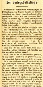 Oorlogsbelasting in 1914