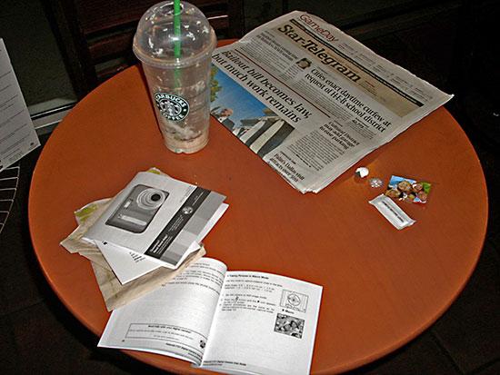 Tafels in Starbucks