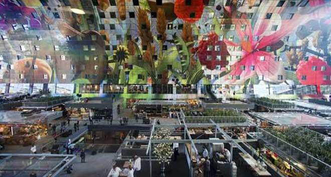 De versmarkt in Rotterdam.