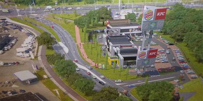 Foodcourt in Zwolle, met Burger King, KFC en Subway