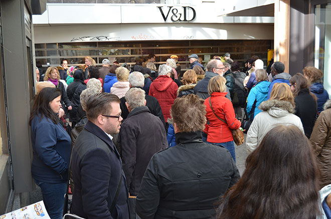 Uitverkoop V&D Zwolle