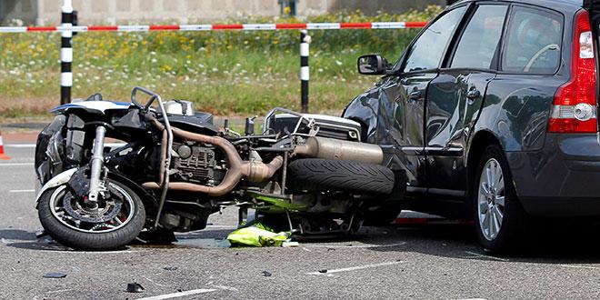 Ongeluk politie motor Zwolle