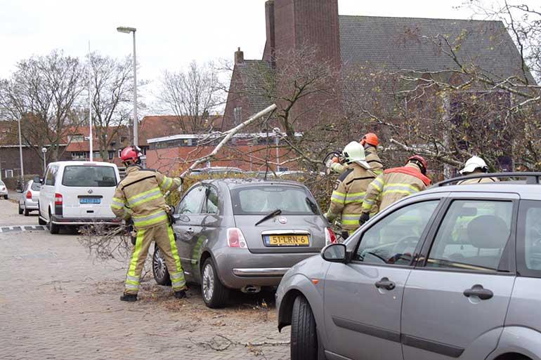 Storm schade Zwolle