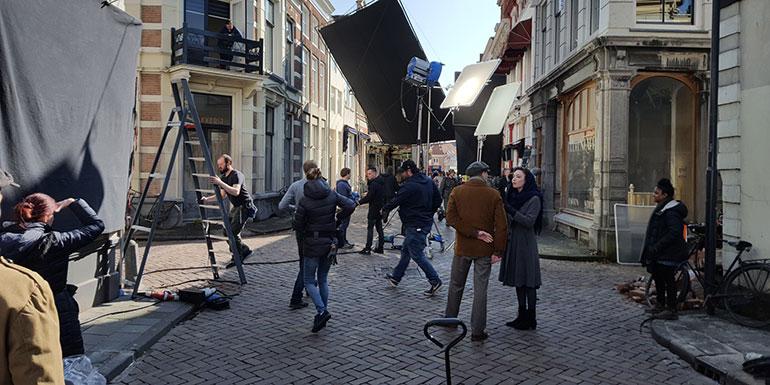 Filmopnames Zwolle Bankier van het Verzet