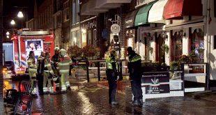 Brand pizzeria Nieuwstraat