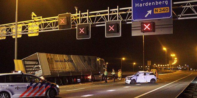 Ongeluk A28, vrachtwagen gevaarlijke stoffen