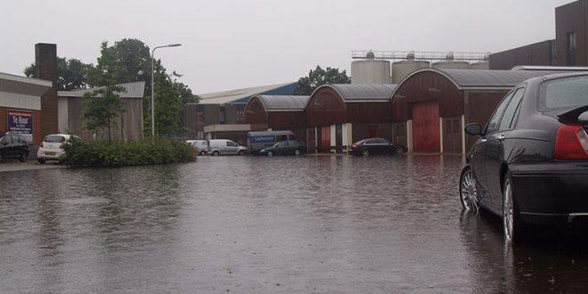 Regen overlast Zwolle