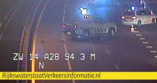 Ongeluk op A28 bij afslag Zwolle-Noord