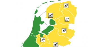 Code geel in Overijssel, wegen zijn gevaarlijk glad