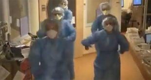 """Verpleegsters Isala dansen op ic, """"houd vol mensen!"""""""
