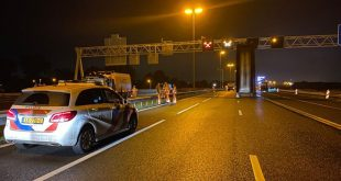 A28 afgesloten na ongeluk met vrachtwagen